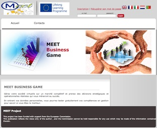 Business Game - Site de jeu